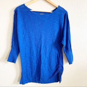 Express Royal Blue Dolman Sleeve Sweater Top Small